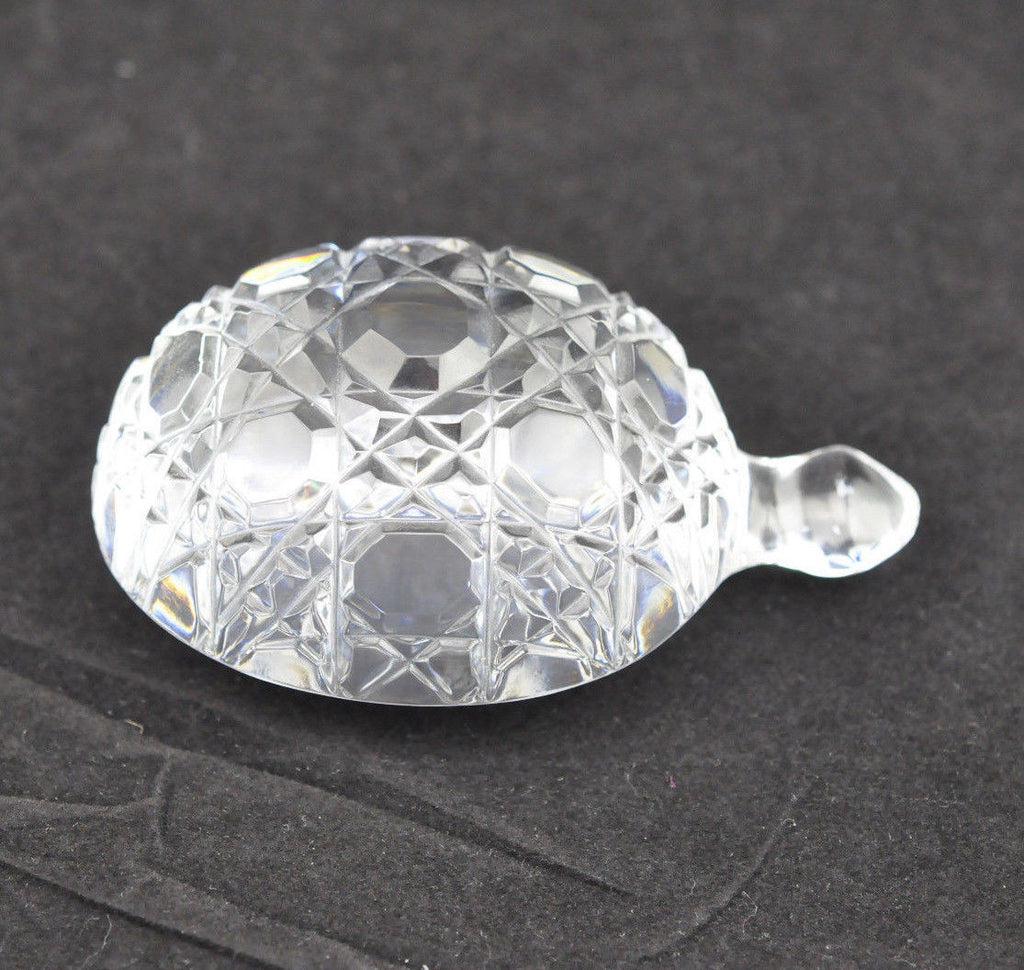 "Waterford 3"" Crystal Turtle Paperweight"