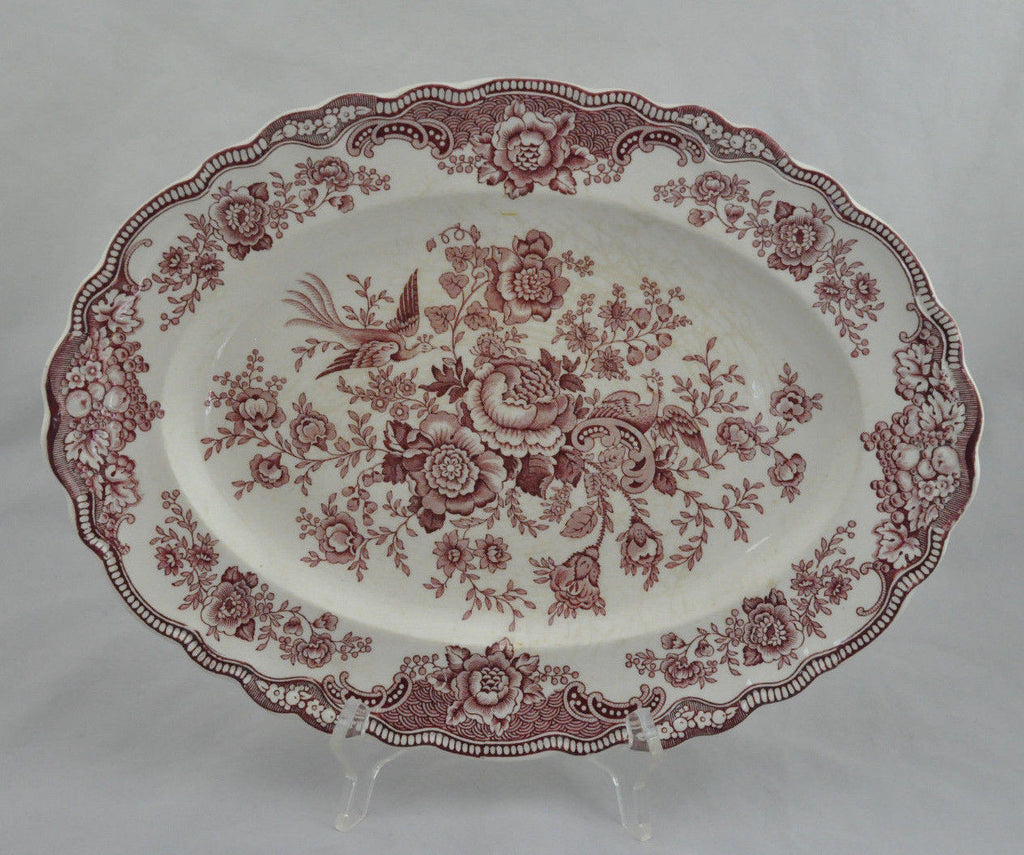 Vintage Bristol Crown Ducal England 762055 Pink Porcelain Serving Plate