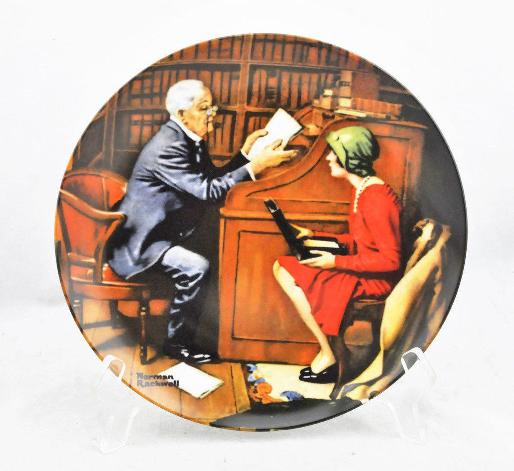 Authentic Norman Rockwell The Professor Collector Plate 18249F