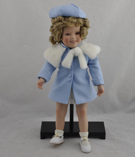 "Vintage Danbury Mint Shirley Temple "" Shirley Her Mark "" Doll With Stand"
