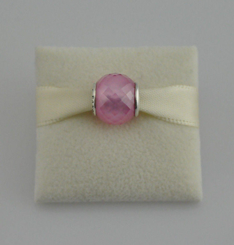 Authentic Pandora Petite Facets Pink 791499PCZ Murano Silver Charm 925 ALE