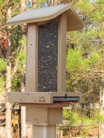 #10 Tall Post Mount Corner Bird Feeder