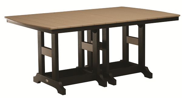 Garden Classic 44x72 Rectangular Dining Table in Natural Finishes-Berlin Gardens-Poly-Outdoor/Patio Furniture-Amish made