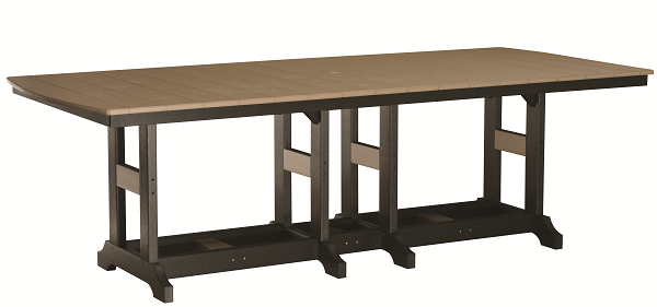 Garden Classic 44 x 96 Rectangular Outdoor Dining Table in Natural Finishes-Berlin Gardens