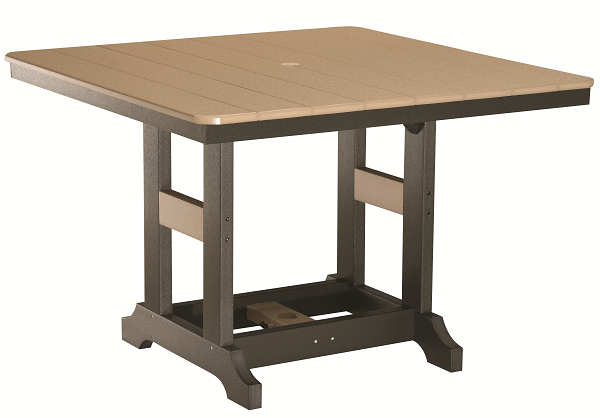 "Garden Classic 44"" Square Table in Natural Finishes"