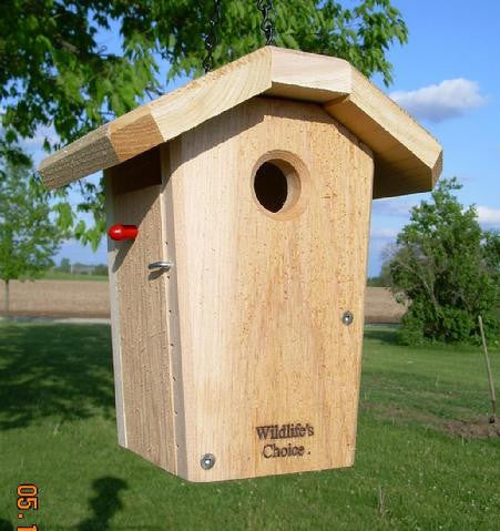 Hanging Chickadee / Wren Nestbox-cedar-wren/chickadee-nestbox-usa