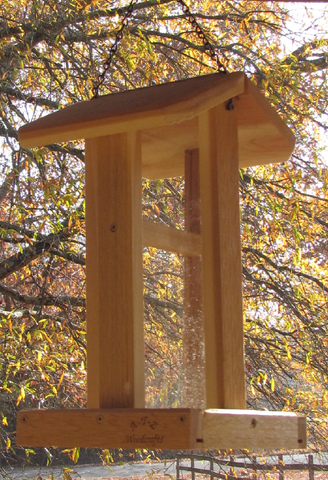 #5  Tall Hanging Corner Bird Feeder-cedar-bird-feeder-USA