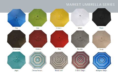 9' Market Umbrella with Tilt & Crank
