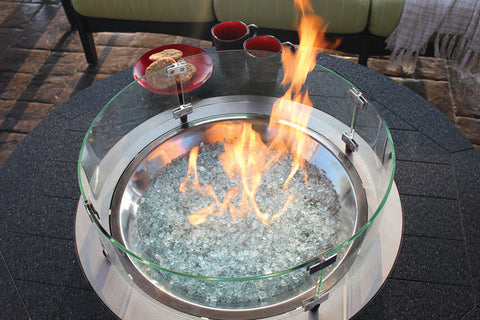 Donoma Poly-Top Fire Pit - Hammered Finish