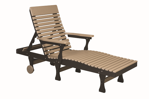 Casual-Back Chaise Lounge - Berlin Gardens - Poly - Outdoor/Patio Furniture - Amish made