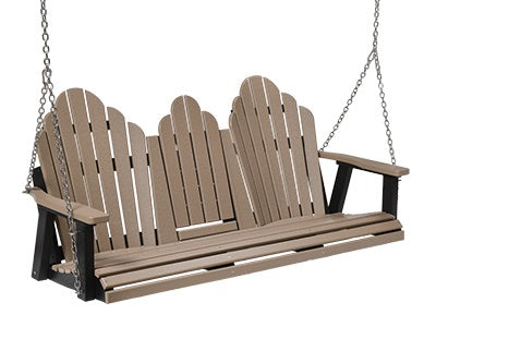 Berlin Gardens Poly Outdoor Cozi-Back Three Seat Swing