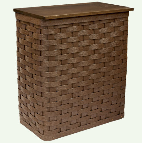 Hamper with Hinged Lid