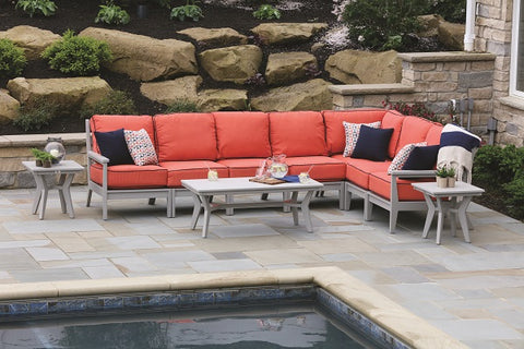 Berlin Gardens Center Armless Chair for Outdoor Sectional