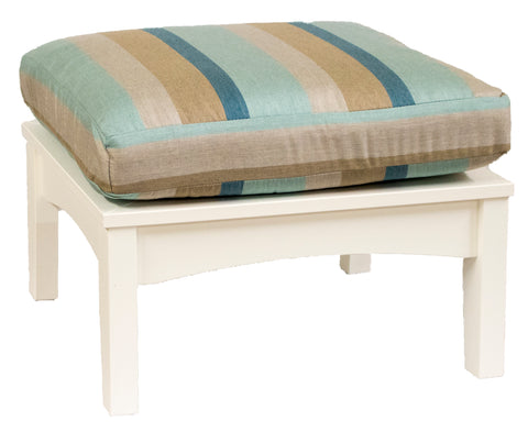 Classic Terrace Ottoman-Berlin Gardens-Poly-Patio Furniture-Amish