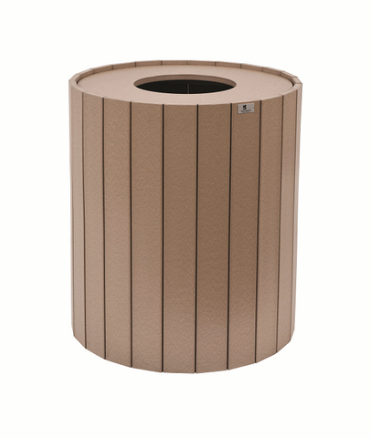 32 gallon round poly outdoor trash can-Berlin Gardens