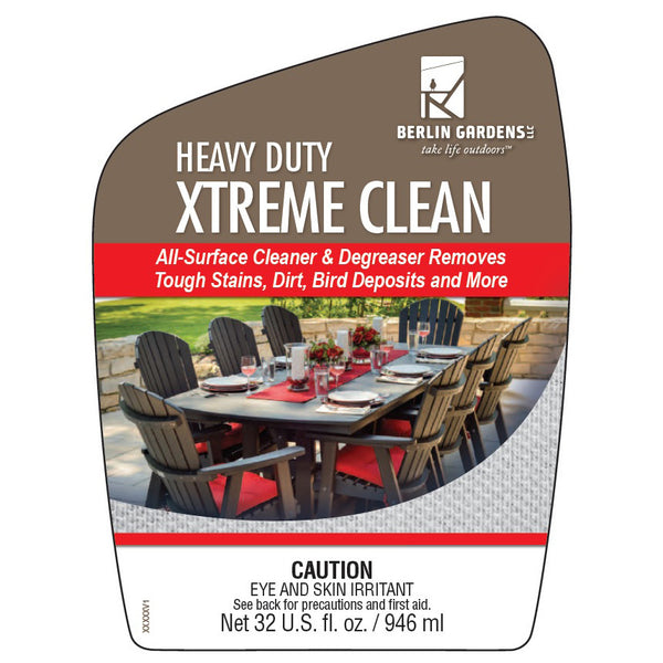 Heavy Duty Xtreme Cleaner Berlin Gardens Poly Outdoor Patio Furniture Amish Made
