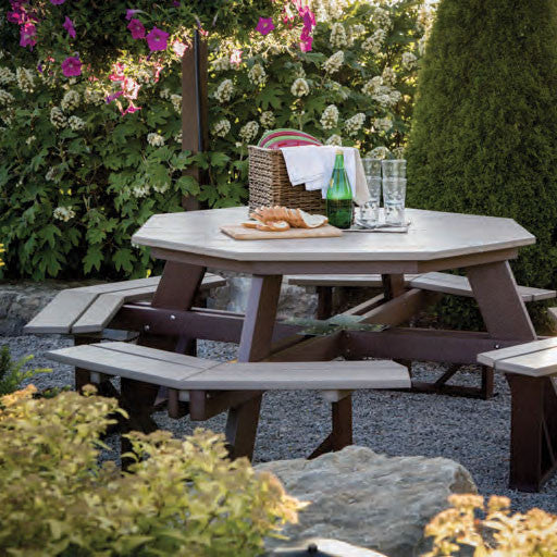 Octagon Picnic Table-Berlin Gardens-Poly-Outdoor/Patio Furniture-Amish made