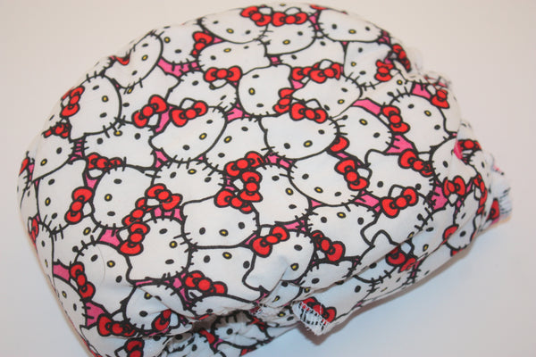 HYBRID- Hello Kitty with hot pink cv- serged