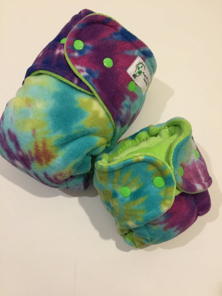 EXTENDED WEAR- Purple/ Lime Tie Dye with lime cv, turned