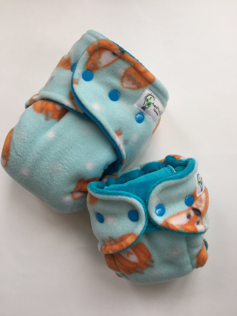 EXTENDED WEAR- Foxes with Aqua cv, turned