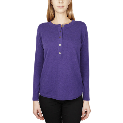 Henley Tee - Purple