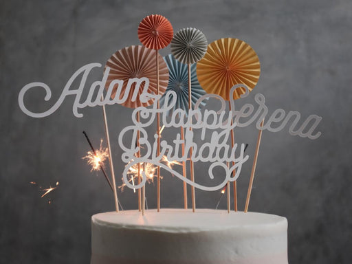Personalized Thoughtful Topper Glitter