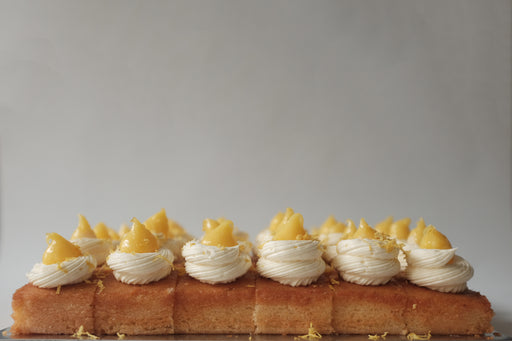 Lemon Meringue Buttercream Squares
