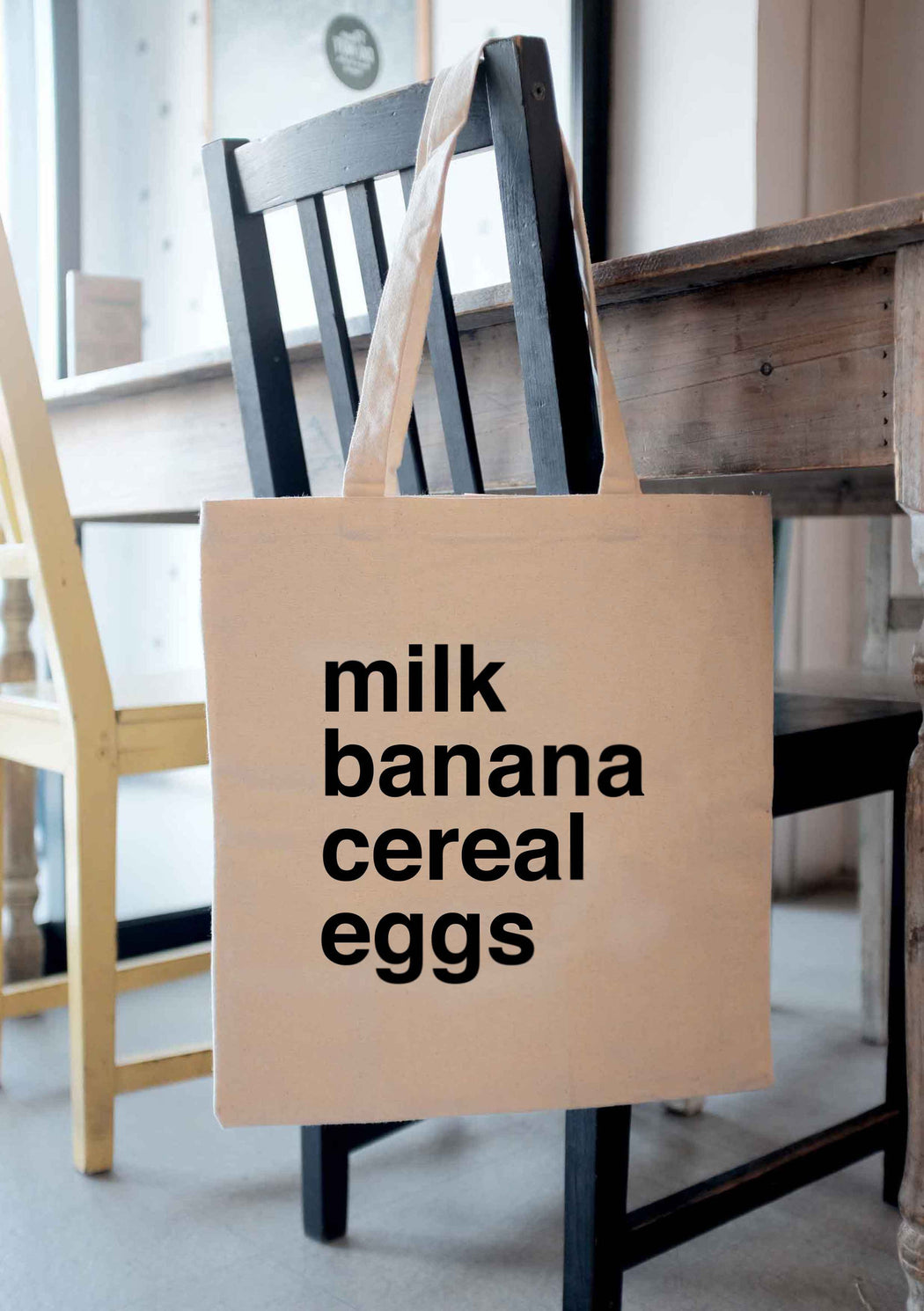 Milk Banana Cereal Eggs