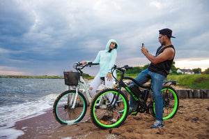 big cat electric bike, beach cruiser and mountain electric bicycles.