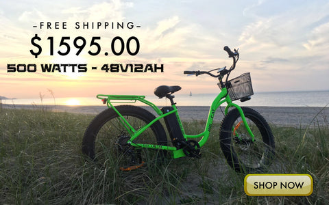 big cat long beach cruiser xl 500 electric fat bike beach cruiser