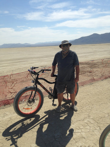 big cat electric bike at burning man ebike