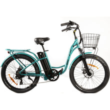 Long Beach Cruiser Electric Bike teal right side
