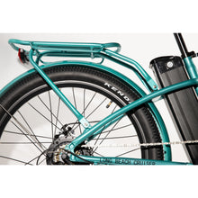 Long Beach Cruiser Electric Bike teal pannier rack