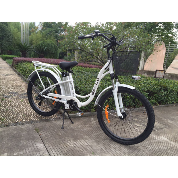 2018 Big Cat® Long Beach Cruiser 500 Electric Bike - - Big Cat Electric Bikes