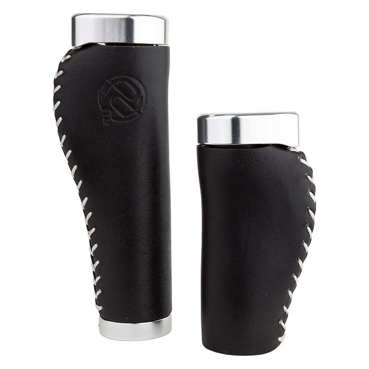 Pdw - Leather Lock On Ergo Whiskey Grips - - Accessories Big Cat Electric Bikes