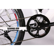 Sedona electric mountain bike crank wheel
