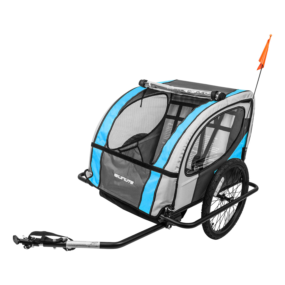 Attachable bike trailer with mesh walls