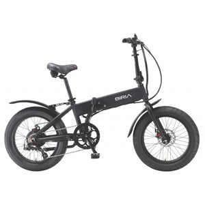 biria electric folding bike black
