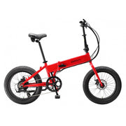 biria electric folding bike red