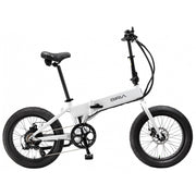 biria electric folding bike white