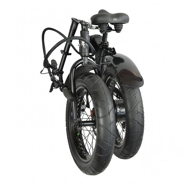 biria electric folding bike folded rear