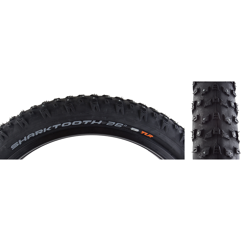"Arisun Sharktooth Studded Electric Fat Bike Tire 26""x4"""