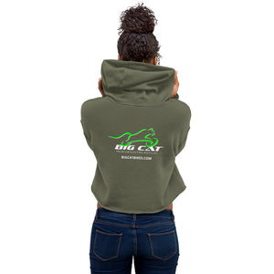 Big Cat Womens Crop Hoodie