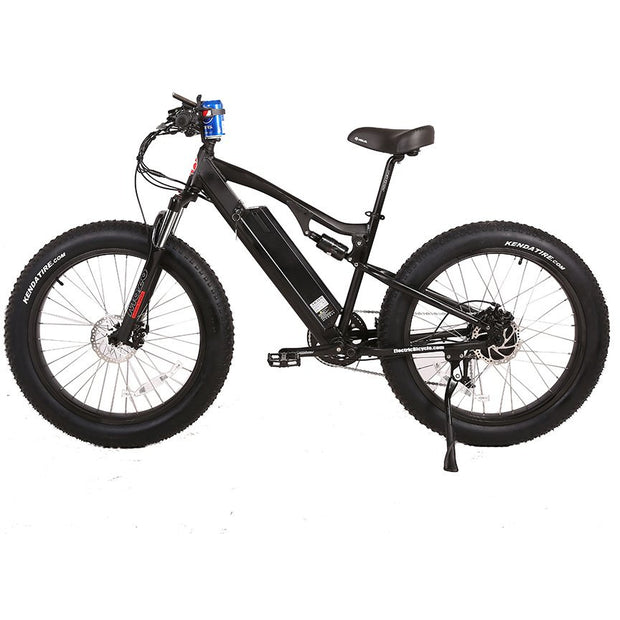 Rocky Road 48v electric mountain bike black left side view