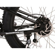 Rocky Road 48v electric mountain bike black shifter view