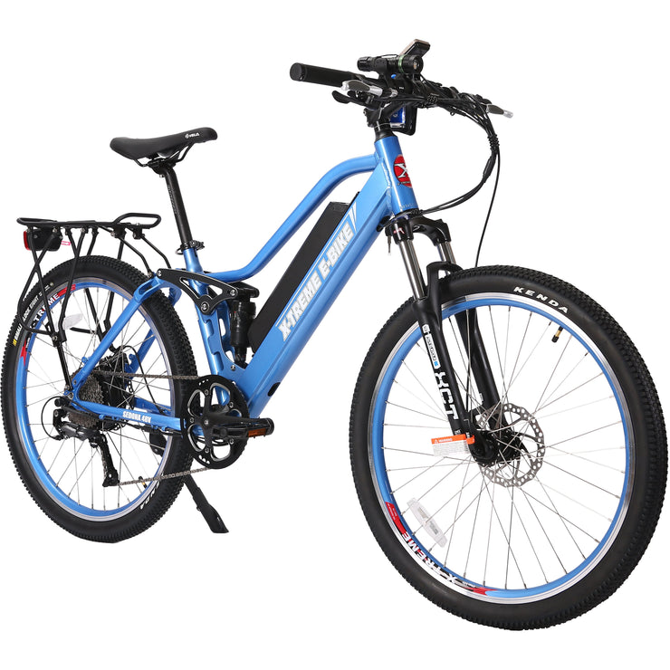 Sedona electric mountain bike baby blue right side angle