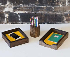 Corporate Gifts, Handmade in Detroit. Unique corporate gifts made by hand in Detroit using reclaimed oak flooring.