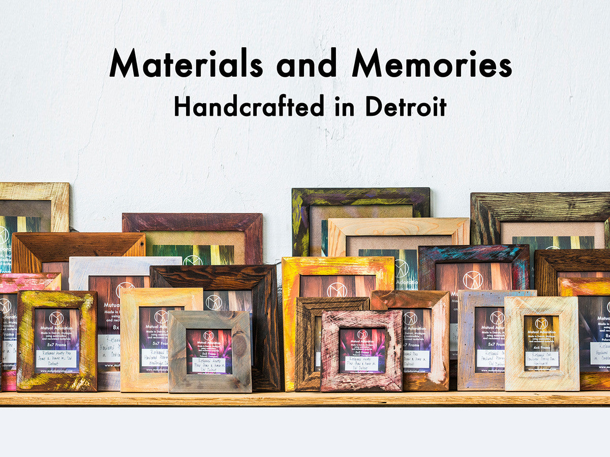 Reclaimed Wood Picture Frames, Handcrafted in Detroit