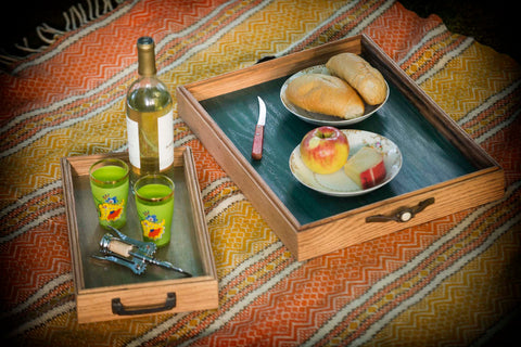 Handmade Serving Trays Outdoor Picnic Scene