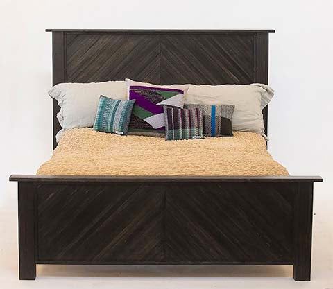 Reclaimed poplar bed, queen size